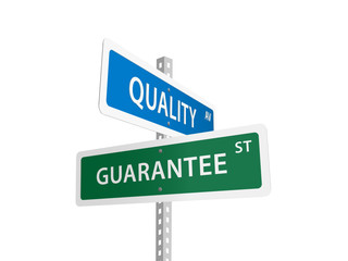 QUALITY GUARANTEE street signs (product feedback customer)