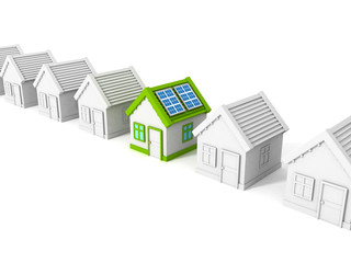 house with solar battery panels on the roof