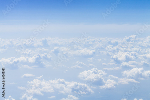Blue sky with clouds background with copy space