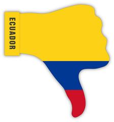 Ecuador Daumen runter, Ecuador thumbs down