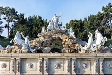 Neptune Fountain in Schonbrunn Palace in Vienna