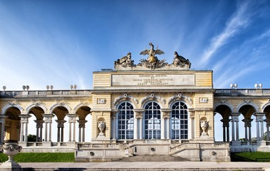 The Schonbrunn Palace Garden Gloriette in Vienna