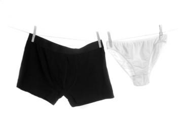 Male and female underwear