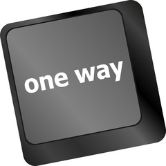 one way button on computer keyboard pc key