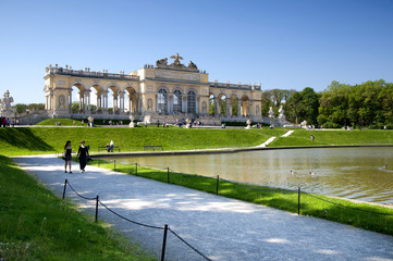 The Schonbrunn Palace Garden Gloriette in Vienna
