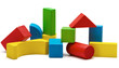 toy blocks, multicolor wooden bricks stack isolated - 66269597