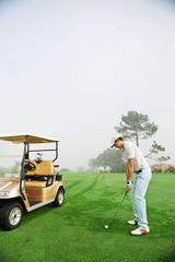 golf cart man