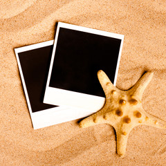 Instant photo frames on the beach