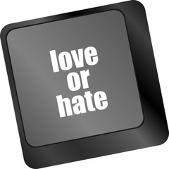 love or hate impressions ratings reviews computer keyboard key,