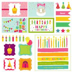 Birthday Party Invitation Set - for Birthday, Baby Shower, Party