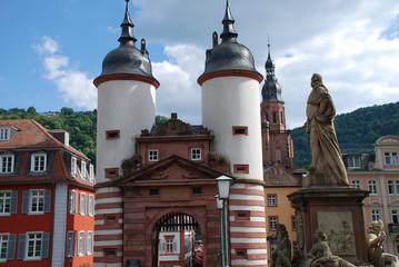 Heidelberg Brückentor  Alte Brücke Karl-Theodor-Brücke