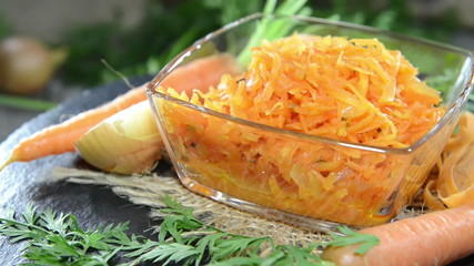 Bowl with Carrot Salad (not loopable)