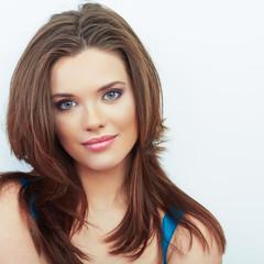 Woman beautiful face portrait.
