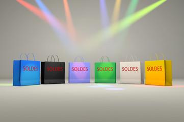 Soldes et sacs de shopping
