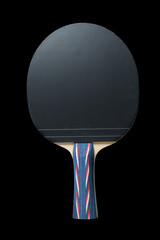 table tennis bat, isolated on black