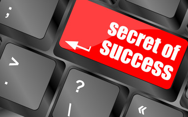 secret of success button on computer keyboard key