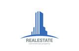 Commercial Property Real Estate vector logo design poster