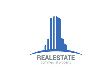 Commercial Property Real Estate vector logo design