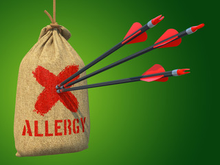 Allergy - Arrows Hit in Red Mark Target.