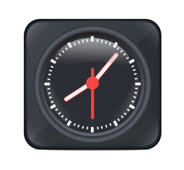 Vector Black Desktop Clock