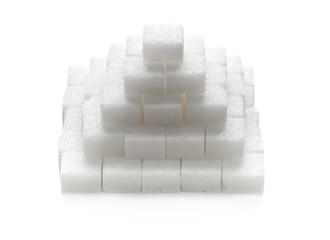Stacked sugar cubes