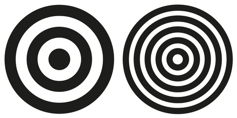 Two simple bullseye targets