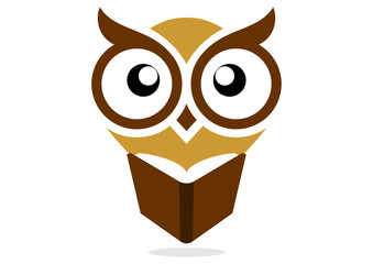 logo owl education brown