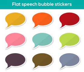Flat speech bubble stickers