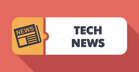 Tech News on Scarlet in Flat Design.