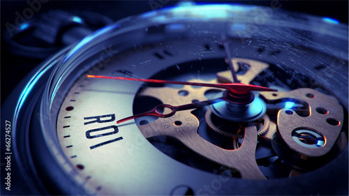 canvas print picture ROI on Pocket Watch Face. Time Concept.
