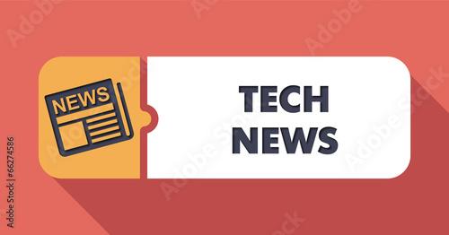 Tech News on Scarlet in Flat Design. - 66274586