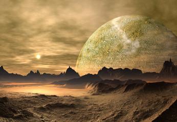 Futuristic Alien Planet