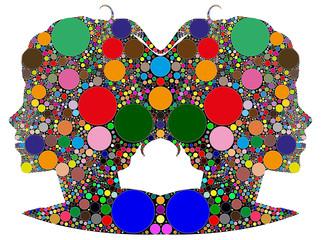 gemelli,segno zodiacale composto da colori
