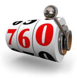 Credit Score Slot Machine Wheels Great Number Apply Loan