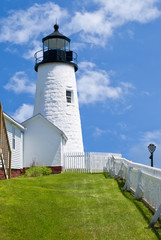 Pemaquid Point Lighthouse in New England