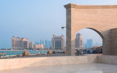 View of Doha coastline, westbay, Doha, Qatar