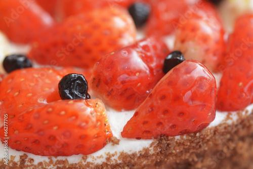 Fototapeta 苺のケーキ