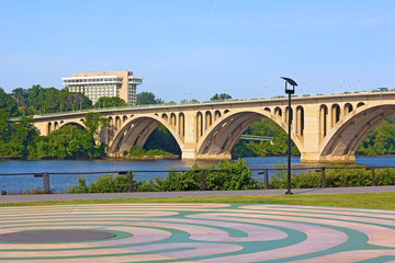 View on Key Bridge from Georgetown Park.