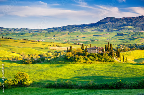 Tuscany landscape at sunset - 66278357