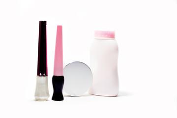 White background isolated. cosmetics
