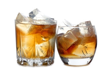 Two whiskey whit ice