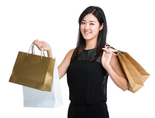 Woman hold shopping bag