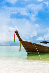 Boat in the beautiful beach