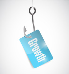 hook growth tag illustration design
