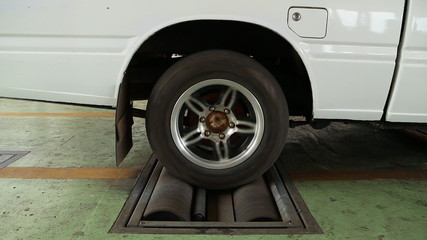 brake testing system of the old car