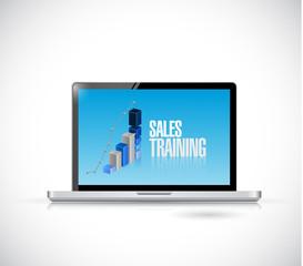 computer sales training illustration design