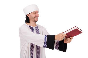 Arab man isolated on white