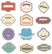 Colorful vintage and retro badges design with no text (vector)