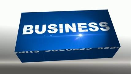 business cube 3D