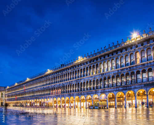 Deurstickers Venice Evening view of saint mark square in Venice, Italy